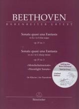 Beethoven, L. van : Sonata op. 27 n. 1. Sonata op. 27 n. 2 Al chiaro di luna, per Pianoforte. Urtext