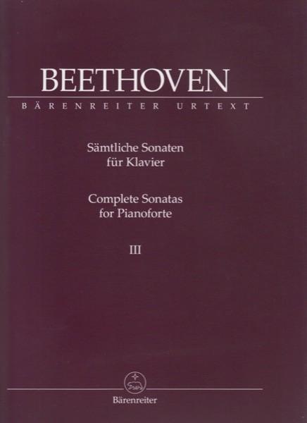 Beethoven, L. van : Sonate per Pianoforte, vol. III. Urtext