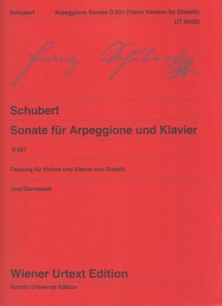 Schubert, F. : Sonata in la minore Arpeggione D 821, per Violino e Pianoforte. Urtext