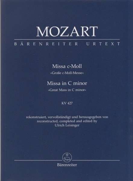 Mozart, W.A. : Messa in do minore KV 427. Partitura tascabile. Urtext