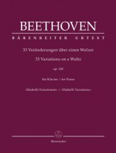 Beethoven, Ludwig van : 33 variazioni op. 120 su un tema di Diabelli, per Pianoforte. Urtext