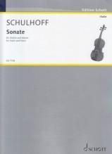 Schulhoff, E. : Sonata per Violino e Pianoforte