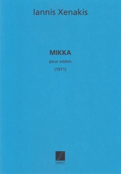 Xenakis, Iannis : Mikka, pour Violon (1971)