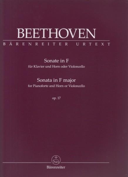 Beethoven, L. van : Sonata op. 17 per Pianoforte e Corno o Violoncello. Urtext