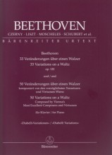 Beethoven, L. van : 33 Variations on a Waltz op. 120 / 50 Variations on a Waltz composed by Vienna's Most Excellent Composers and Virtuosos for Piano