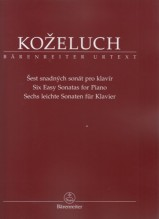 Kozeluh, L. : Six Easy Sonatas for Piano. Urtext