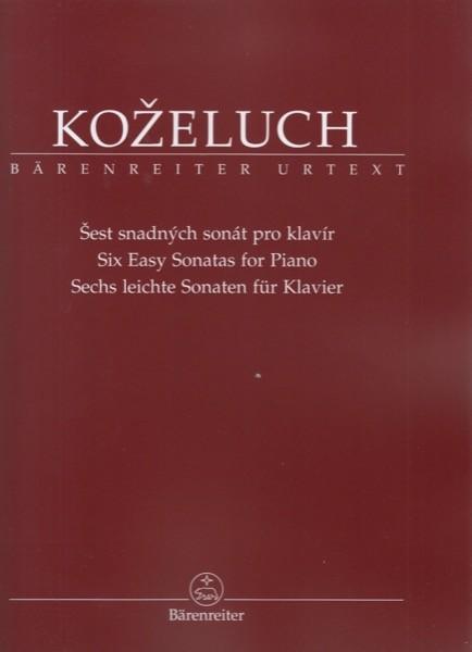 Kozeluh, L. : Six Easy Sonatas for Piano. Urtext
