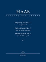 "Haas, P. : String Quartet nr. 2 ""From the Monkey Mountains"". Partitura tascabile. Urtext"