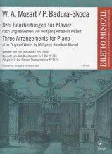 Mozart, W.A. : Three Arrangements for Piano, after Original Works by W.A. Mozart