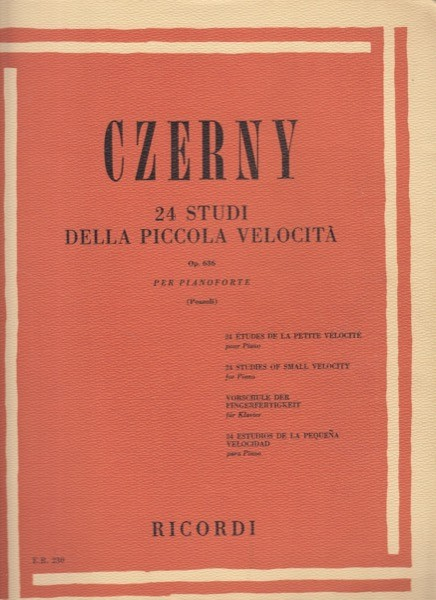 Czerny, C. : 24 studi della piccola velocità op. 636, per Pianoforte