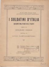 Camposampiero, L. : I soldatini d'Italia. Quadri militari in due parti, libretto