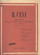 Cesi, B. : Metodo per lo studio del Pianoforte in 12 fascicoli. Vol. II: esercizi e scale