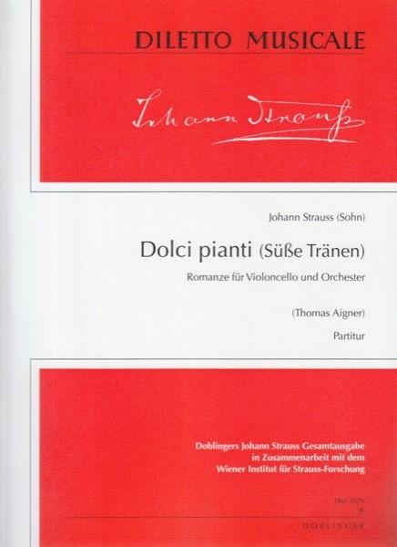 Strauss, J. (Sohn) : Dolci pianti. Romanza per Violoncello e Orchestra. Partitura