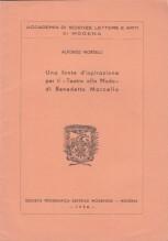"""Morselli, A. : Una fonte d'ispirazione per il """"Teatro alla moda"""" di Benedetto Marcello"""