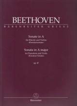 Beethoven, L. van : Sonata n. 9 op. 47 Kreutzer, per Violino e Pianoforte. Urtext