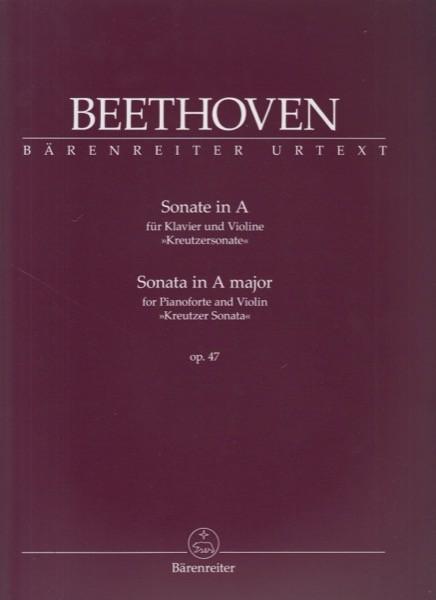Beethoven, Ludwig van : Sonata n. 9 op. 47 Kreutzer, per Violino e Pianoforte. Urtext