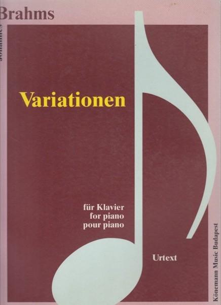 Brahms, J. : Variationen, per Pianoforte. Urtext