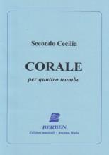 Cecilia, Secondo : Corale, per 4 Trombe. Partitura
