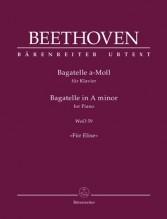 Beethoven, Ludwig van : Per Elisa, per Pianoforte. Urtext