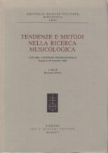 AA.VV. : Tendenze e metodi nella ricerca musicologica