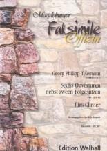 Telemann, Georg Philipp : Sechs Ouverturen nebst zween Folgesätzen TWV 32:5-10, per Clavicembalo. Facsimile
