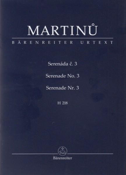 Martinu, Bohuslav : Serenade nr. 3, H 218. Partitura tascabile. Urtext