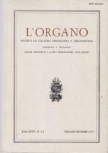 AA.VV. : L'Organo. Rivista di cultura organaria e organistica. Anno XVII, 1979
