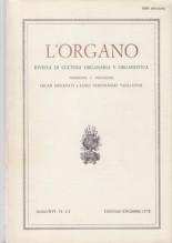 AA.VV. : L'Organo. Rivista di cultura organaria e organistica. Anno XVI, 1978