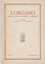AA.VV. : L'Organo. Rivista di cultura organaria e organistica. Anno V, 1967, n. 2