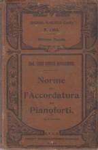 Bongioanni, Luigi Enrico : Norme per l'accordatura dei Pianoforti