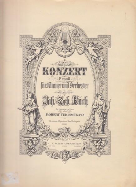 Bach, Johann Sebastian : Concerto V BWV 1056 per Clavicembalo e Orchestra, riduzione per 2 Clavicembali