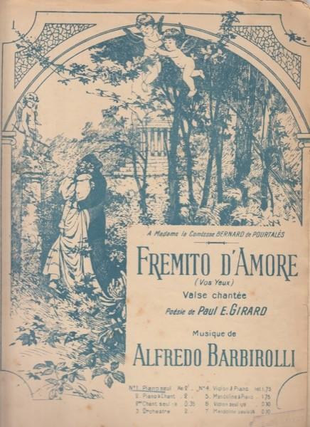 Barbirolli, Alfredo : Fremito d'amore, per Pianoforte
