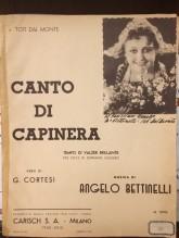Bettinelli, Angelo : Canto di Capinera, per Canto e Pianoforte
