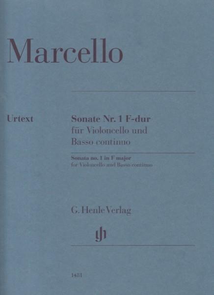Marcello, Benedetto : Sonata n. 1 in fa, per Violoncello e Basso continuo. Urtext