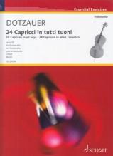 Dotzauer, Justus Johann F. : 24 Capricci in tutti tuoni op. 35, per Violoncello. Urtext