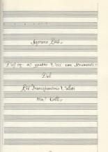Vallotti, F.A. : Dies irae a quattro voci con strumenti (Padova, 1756). Facsimile