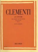 Clementi, M. : 23 studi dal Gradus ad Parnassum, per Pianoforte