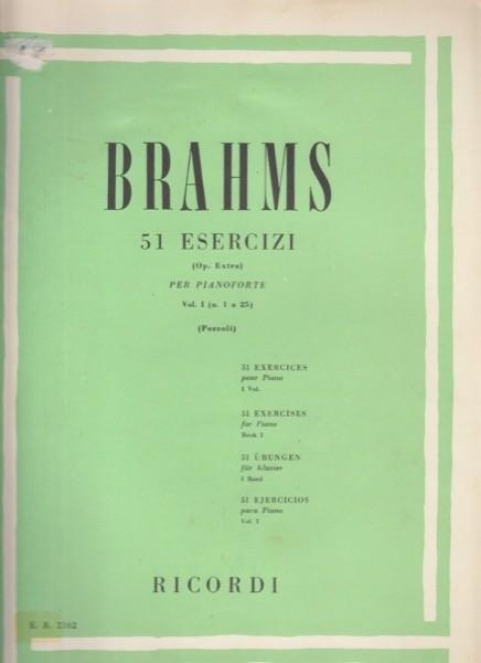 Brahms, Johannes : 51 esercizi per Pianoforte, vol. I