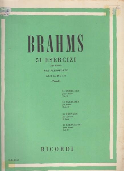 Brahms, Johannes : 51 esercizi per Pianoforte, vol. II
