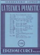 Longo, Alessandro : La tecnica pianistica, fascicolo 8. Tecnica delle note doppie (comprese le scale di seste)