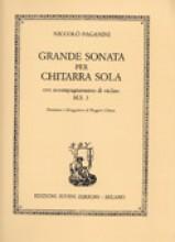 Paganini, Niccolò : Grande sonata per Chitarra sola, con accompagnamento di Violino MS 3