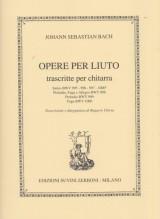 Bach, J.S. : Opere per liuto trascritte per Chitarra