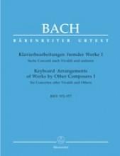Bach, J.S. : Opere di altri compositori arrangiate per strumento a tastiera, vol. I. Urtext