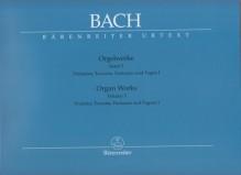 Bach, J.S. : Composizioni per Organo, vol. V: Präludien, Toccaten, Fantasien und Fugen I. Urtext