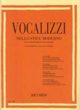 AA.VV. : Vocalizzi nello stile moderno con pianoforte (8 vocalizzi per voce acuta - serie I)