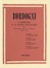 Bordogni, M. : 3 esercizi e 12 nuovi vocalizzi op. 8, per Soprano o Tenore