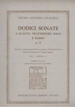Locatelli, Pietro Antonio : 12 Sonate a Flauto Traverso e basso op. 2, vol. II