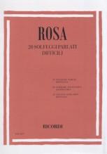 Rosa, M. : 20 Solfeggi parlati difficili