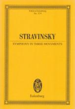 Stravinsky, Igor : Sinfonia in tre movimenti. Partitura tascabile