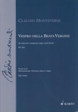 Monteverdi, C. : Vespro della Beata Vergine, per Canto e Organo
